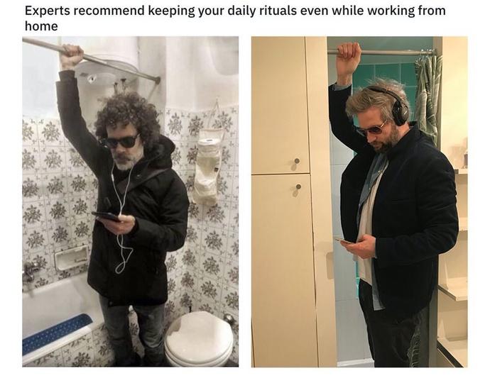 Giả bộ đi làm