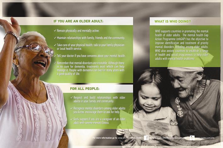 Sức khỏe Tâm thần người cao tuổi- Một vấn đề đang được quan tâm